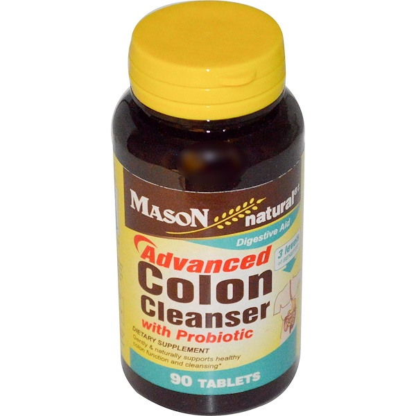 Mason Natural, Advanced Colon Cleanser with Probiotic, 90 Tablets (Discontinued Item)