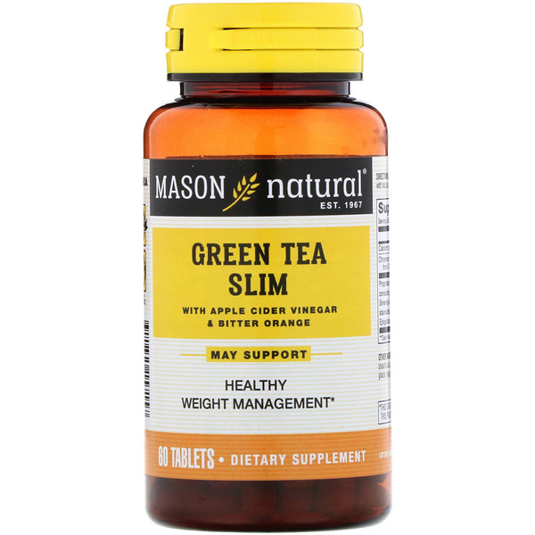 Mason Natural, Green Tea Slim, 60 Tablets