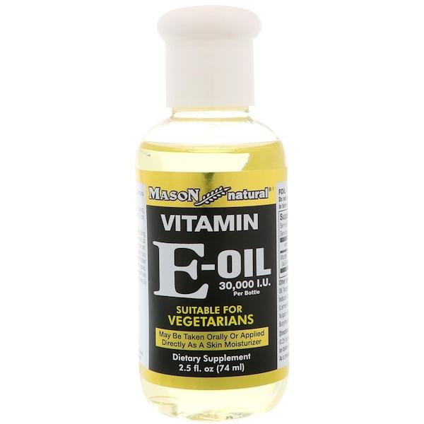 Mason Natural, 維生素E油,30,000IU,2、5液量盎司(74毫升)