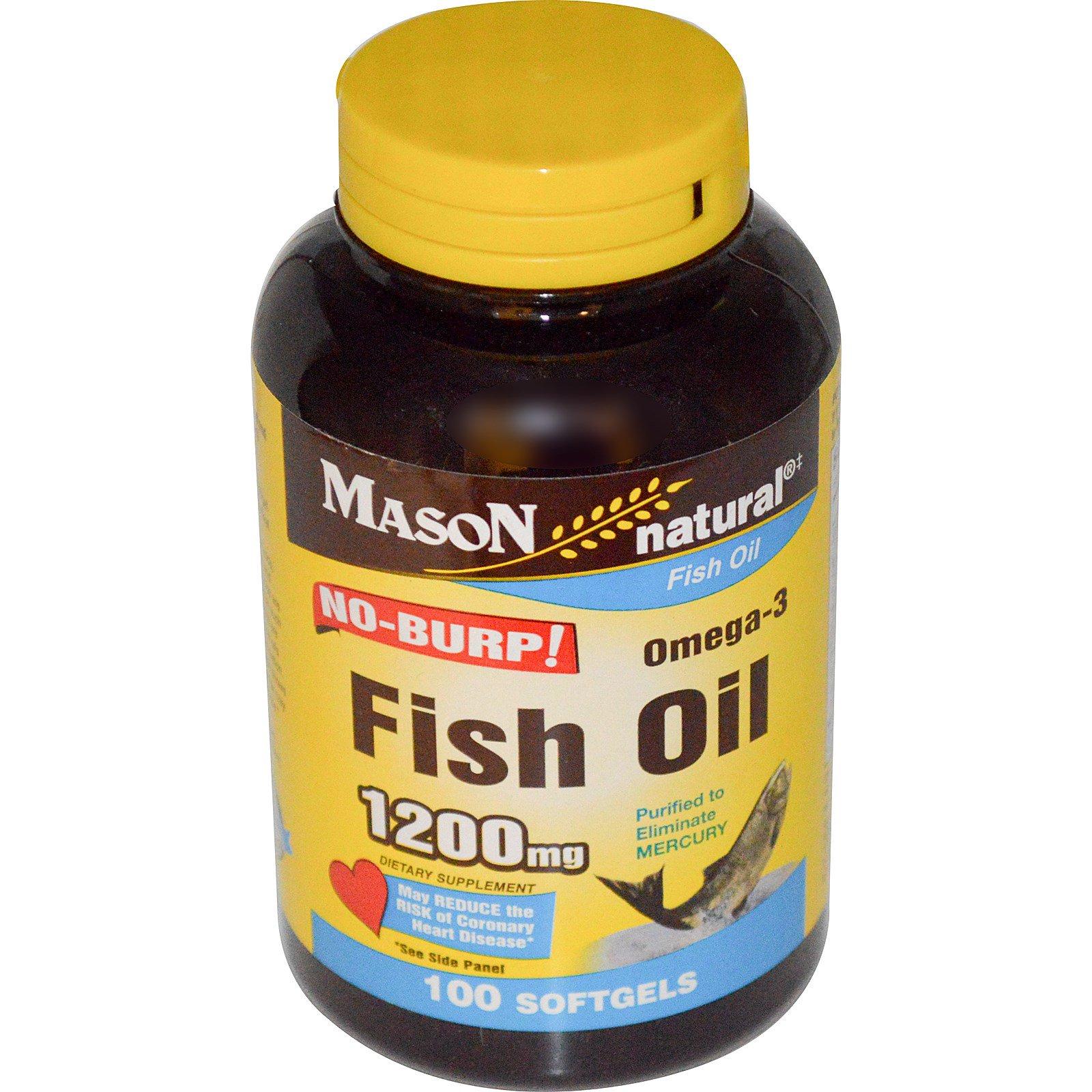 Mason natural omega 3 fish oil 1200 mg 100 softgels for Best omega 3 fish