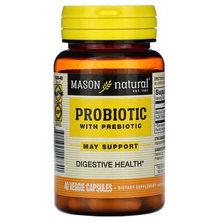 Mason Natural, Probiotic with Prebiotic, 40 Veggie Capsules