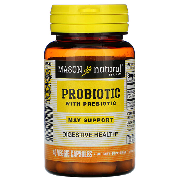Probiotic with Prebiotic, 40 Veggie Capsules
