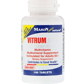Mason Natural, Vitrum 50+ Senior Multi, 100 Tablets