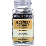 Отзывы о Mason Natural, Алоэ вера и витамин Е, натуральный крем, 60 отрезных капсул