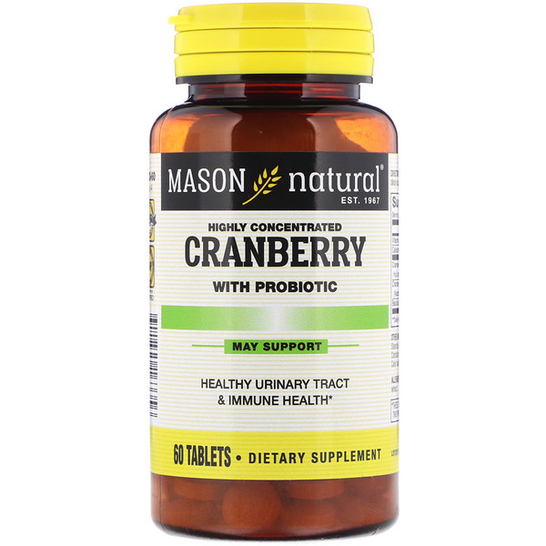 Cranberry with Probiotic, Highly Concentrated, 60 Tablets