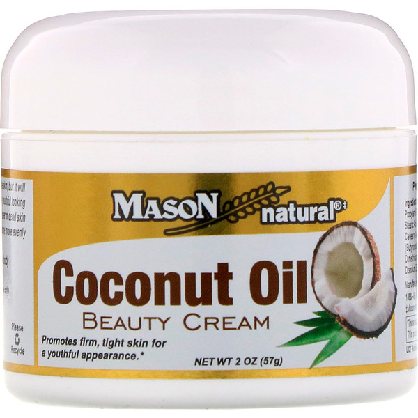 Mason Natural, Coconut Oil Beauty Cream, 2 oz (57 g)