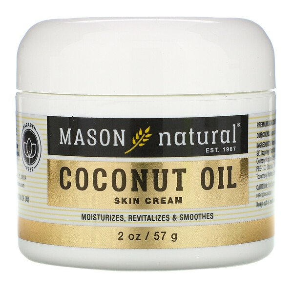 Mason Natural, Coconut Oil Skin Cream, 2 oz (57 g)