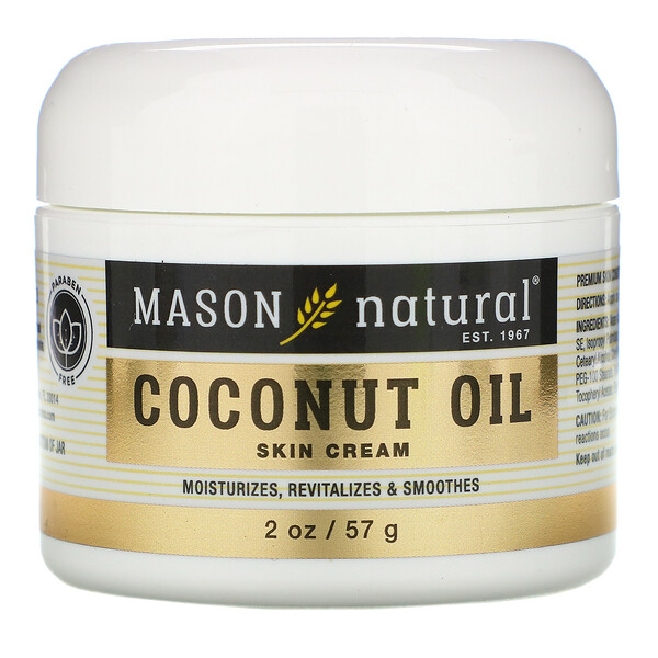 Coconut Oil Skin Cream, 2 oz (57 g)