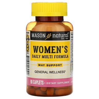 Mason Natural, Women's Daily Multi Formula, 90 Caplets