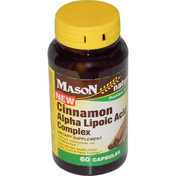 Mason Natural, 肉桂α-硫辛酸複合物,60粒膠囊