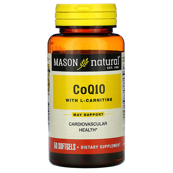 КоэнзимQ10 с L-карнитином, 50мягких таблеток