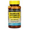Mason Natural, Magnesio y vitamina D3 con cúrcuma, 60 tabletas