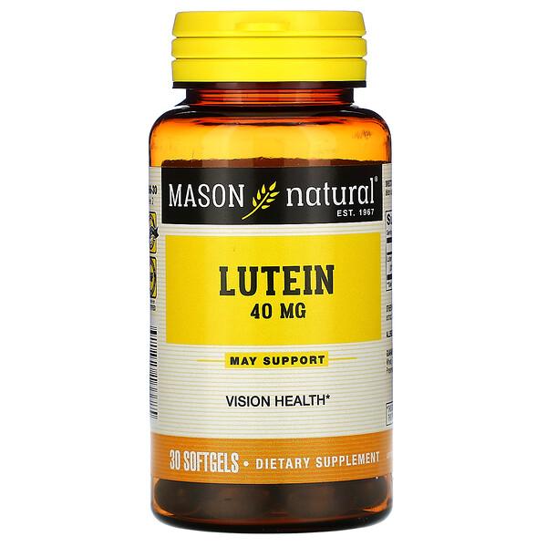 Lutein, 40 mg, 30 Softgels