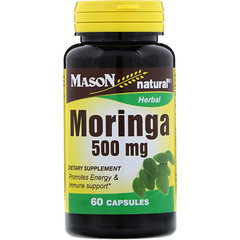 Mason Natural, Moringa, 500 mg, 60 gélules