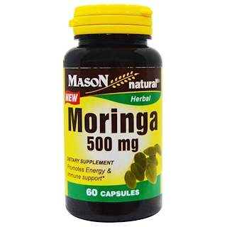 Mason Natural, Moringa, 500 mg, 60 Capsules