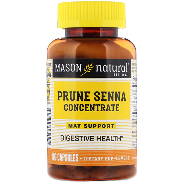 Mason Natural, Prune Senna Concentrate, 100 Capsules