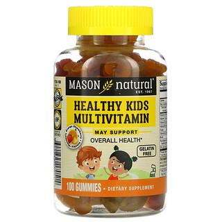 Mason Natural, ヘルシーキッズ、健康な体のためのマルチビタミン、グミ100粒