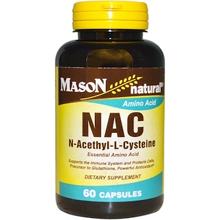 Mason Naturals, NAC N-Acethyl-L-Cysteine, 60 Capsules
