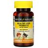 Mason Natural, пробіотик із клітковиною для здоров'я дітей, 60жувальних таблеток