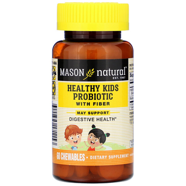 Healthy Kids Probiotic With Fiber, 60 Chewables