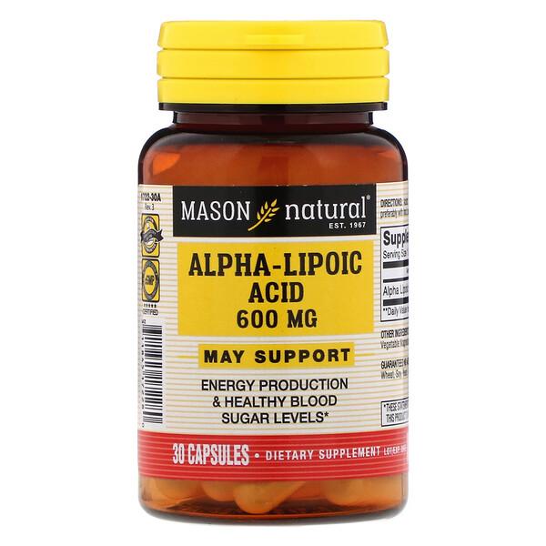 Alpha-Lipoic Acid, 600 mg, 30 Capsules