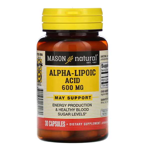 Alpha-Lipoic Acid, 600 mg, 30 Capsules