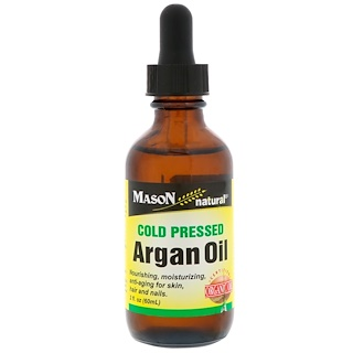 Mason Natural, Cold Pressed Argan Oil, 2 fl oz (60 ml)