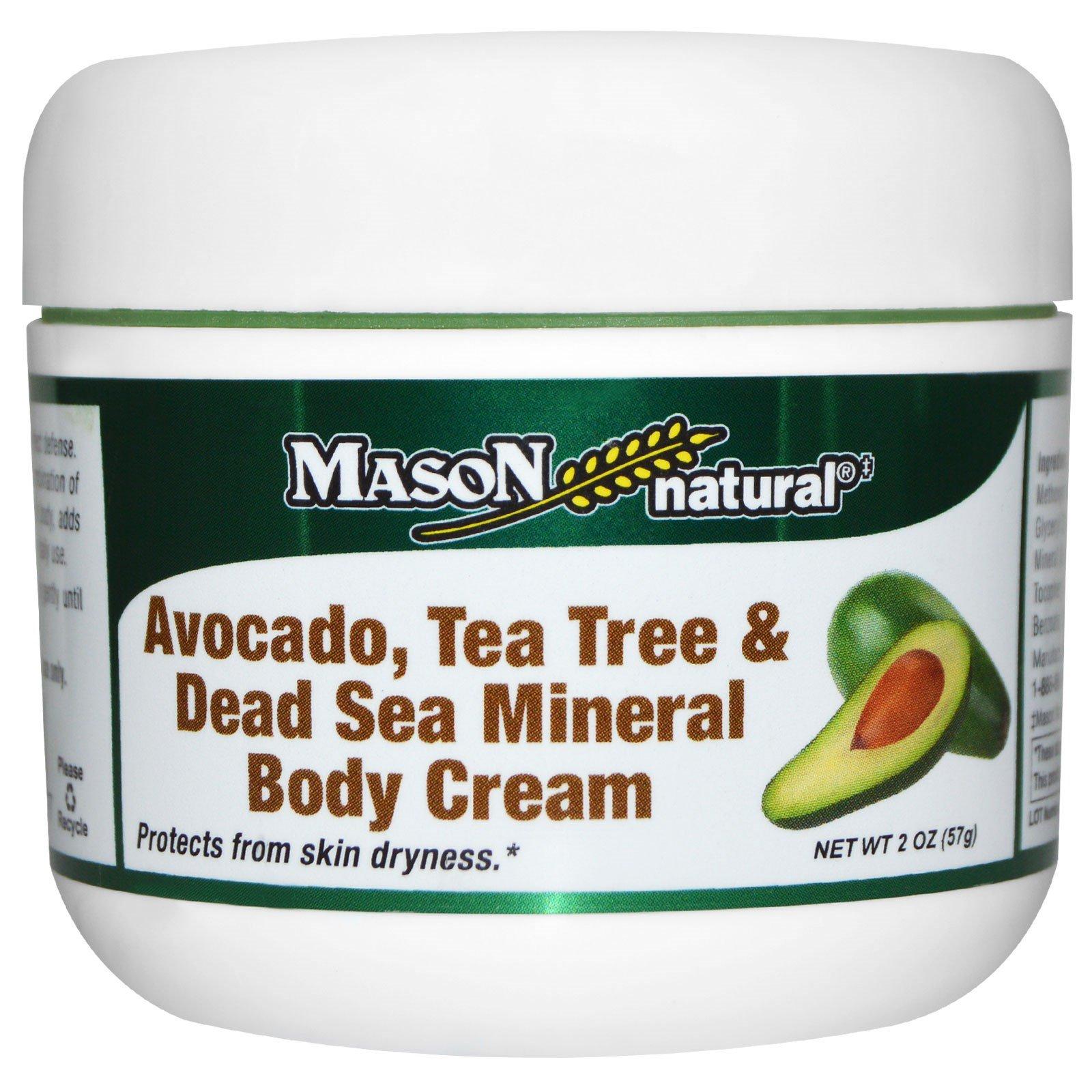 Mason Naturals, Крем для тела с авокадо, чайным деревом и минералами Мертвого мора, 2 унции (57 г)