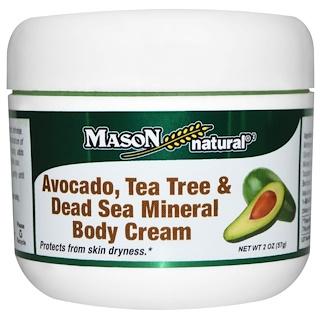 Mason Natural, Крем для тела с авокадо, чайным деревом и минералами Мертвого мора, 2 унции (57 г)
