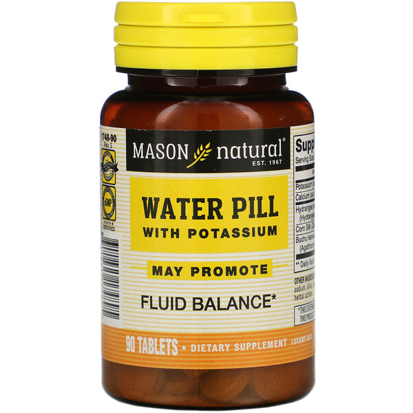 Water Pill with Potassium, 90 Tablets