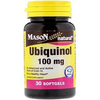 Mason Natural, Ubiquinol, 100 mg, 30 Softgels