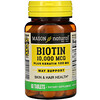 Mason Natural, биотин с кератином, 10000мкг, 60таблеток