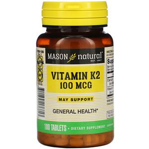 Масон Натуралс, Vitamin K2, 100 mcg, 100 Tablets отзывы