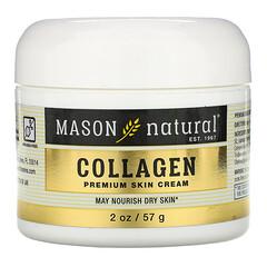 Mason Natural, 椰子油護膚霜 + 膠原蛋白高級護膚霜,2 包,每包 2 盎司(57 克)