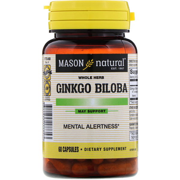 Whole Herb Ginkgo Biloba, 60 Capsules