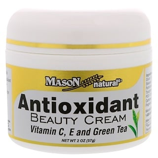 Mason Natural, Antioxidant Beauty Cream with Vitamin C, E, and Green Tea, 2 oz (57 g)