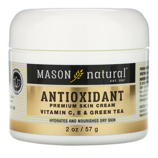 Antioxidant Premium Skin Cream,  Vitamin C, E & Green Tea, 2 oz (57 g)