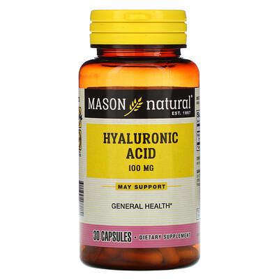 Mason Natural Гиалуроновая кислота, 100мг, 30капсул