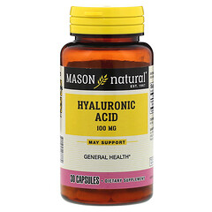 Mason Natural, Hyaluronic Acid, 100 mg, 30 Capsules