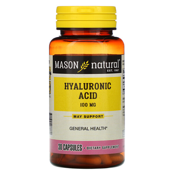Hyaluronic Acid, 100 mg, 30 Capsules