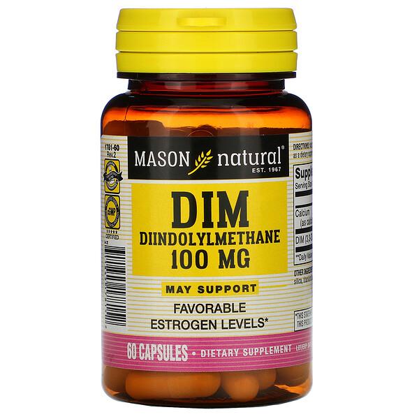 DIM Diindolylmethane, 100 mg, 60 Capsules