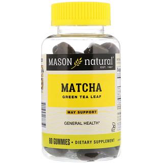 Mason Natural, Matcha Green Tea Leaf, 60 Gummies