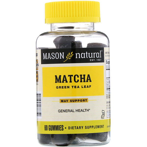 Mason Natural, Matcha Green Tea Leaf, 60 Gummies (Discontinued Item)