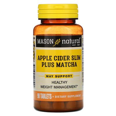 Купить Mason Natural Apple Cider Slim Plus Matcha, 90 Tablets