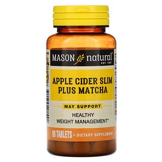 Mason Natural, Apple Cider Slim Plus Matcha, 90 Tablets