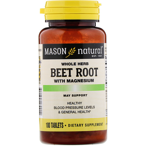 Mason Natural, Beet Root with Magnesium, 100 Tablets