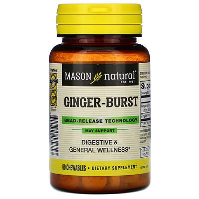 Mason Natural Ginger-Burst, Bead-Release Technology, 60 Chewables  - Купить