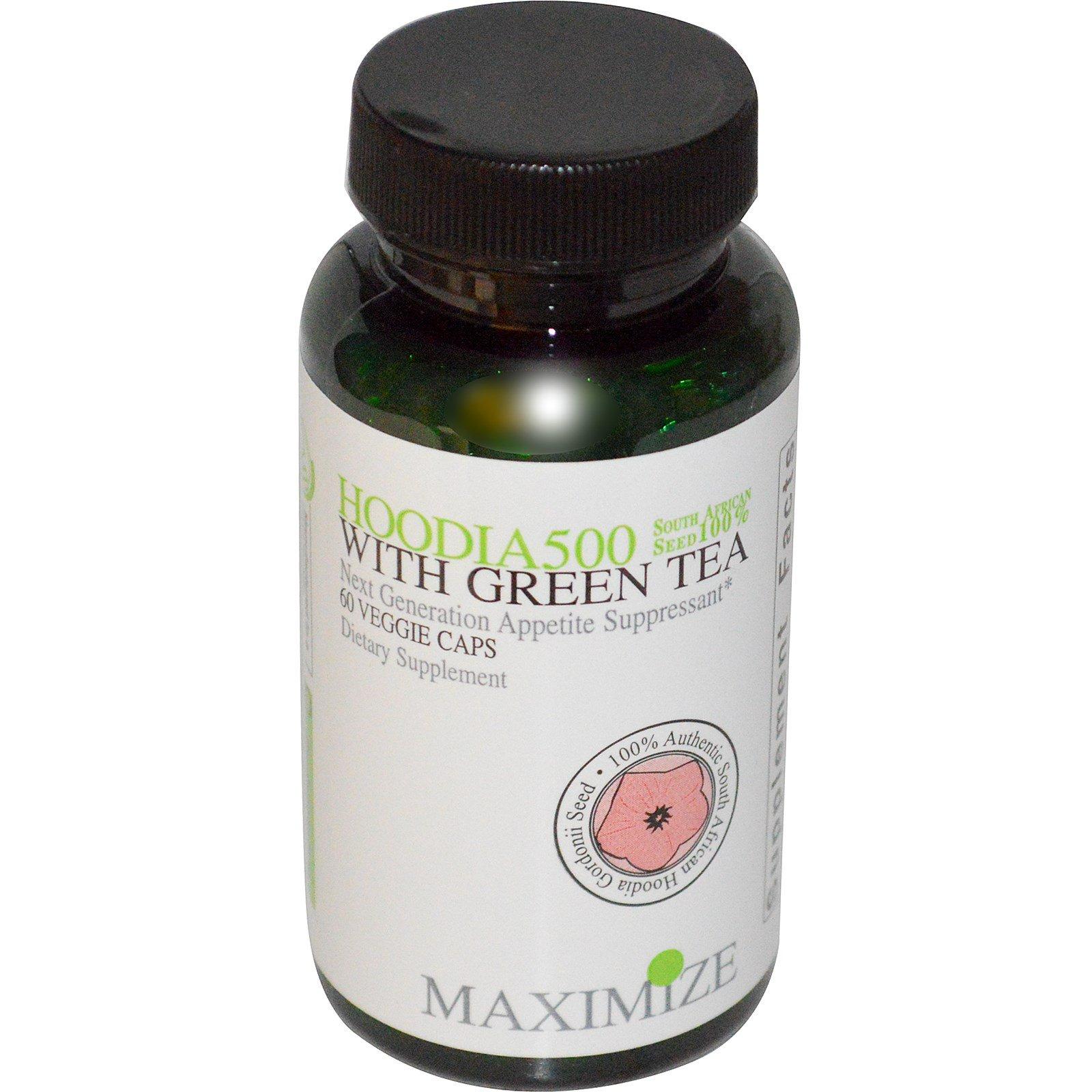 Maximum International Hoodia 500 With Green Tea 60 Veggie Caps