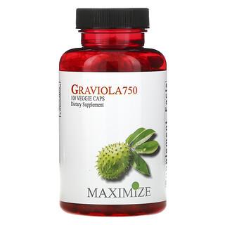 Maximum International, Graviola 750, 100 вегетарианских капсул