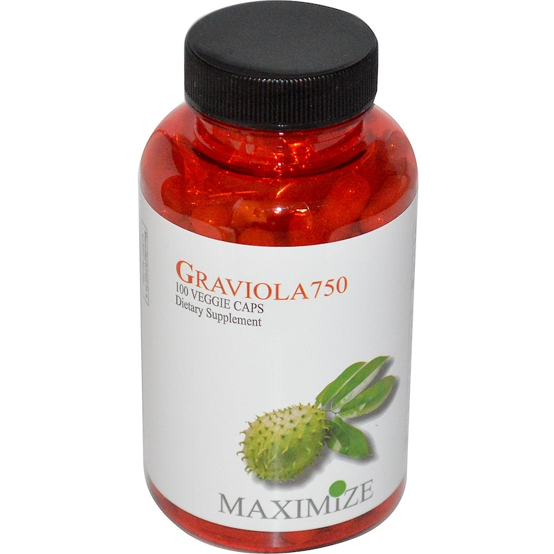 Maximum International, 刺果番荔枝 750,100粒素食膠囊